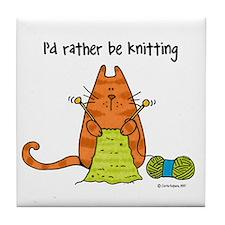 Rather be knitting Art Tile
