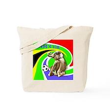Soccer Elephant rect. shape Tote Bag