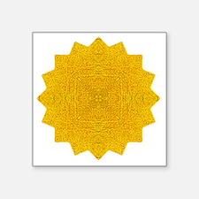 "Maya Tree Yoga Mandala Shir Square Sticker 3"" x 3"""