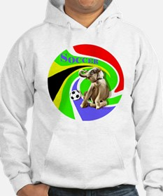 Soccer Elephant round Hoodie