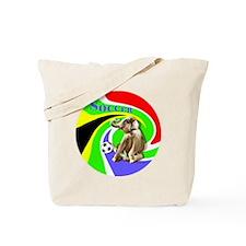 Soccer Elephant round Tote Bag
