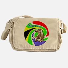 Soccer Elephant round Messenger Bag