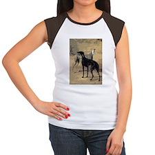 2Greyhounds14x10_print Women's Cap Sleeve T-Shirt