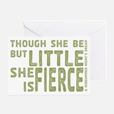 She is Fierce - Stamped Olive Greeting Card