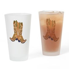 CowgirlBootCP2 Drinking Glass