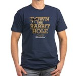 Down The Rabbit Hole Men's Fitted T-Shirt (dark)