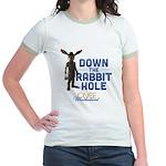 Down The Rabbit Hole Jr. Ringer T-Shirt