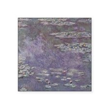 "Water Lilies by Monet Square Sticker 3"" x 3"""