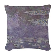 Water Lilies by Monet Woven Throw Pillow