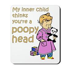 poo-poo head copy Mousepad