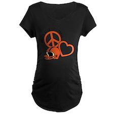 Orangeblack, Peace, Love, F T-Shirt