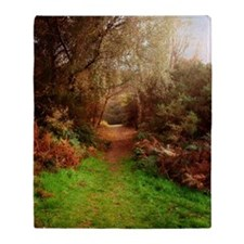 Autumn Path Throw Blanket