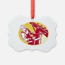 Lineworker Power Lineman Climbing Ornament