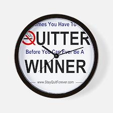 quitter_winner Wall Clock