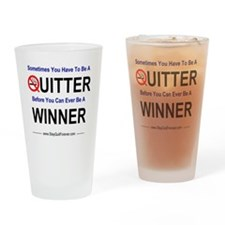 quitter_winner Drinking Glass