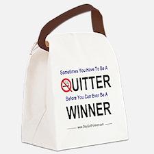 quitter_winner Canvas Lunch Bag