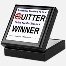 quitter_winner Keepsake Box