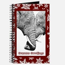 Xmas Card Entwined (snow) red Journal