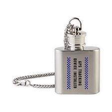 GPSKey_white Flask Necklace