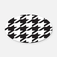 houndsooth tag 1 Oval Car Magnet