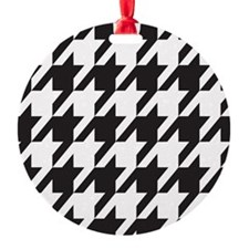 houndsooth square 1 Ornament