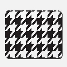 houndsooth square 1 Mousepad