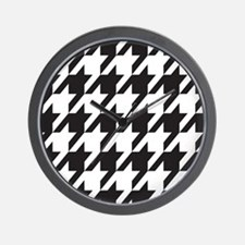 houndsooth square 1 Wall Clock