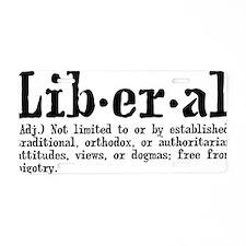 liberaldef Aluminum License Plate