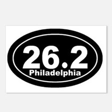 262_Philadelphia_blk Postcards (Package of 8)