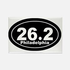 262_Philadelphia_blk Rectangle Magnet