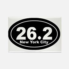 262_nyc_blk Rectangle Magnet