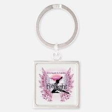 twilight pink angel by twibaby cop Square Keychain