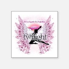"twilight pink angel by twib Square Sticker 3"" x 3"""