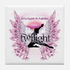 twilight pink angel by twibaby copy Tile Coaster