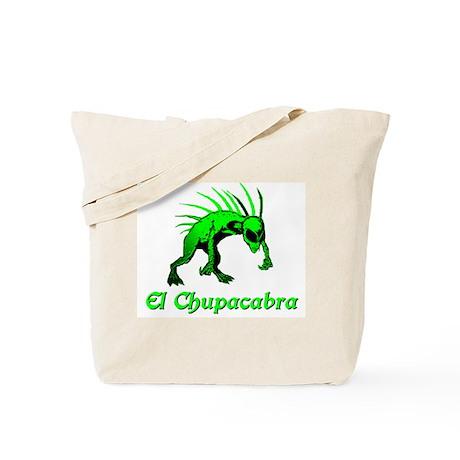 El Chupacabra Green Tote Bag