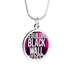 BLACK WALL STREET LADIES Silver Round Necklace