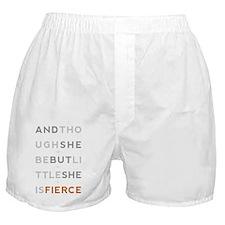 She is Fierce 10x14 Boxer Shorts