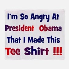 Angry at Obama Throw Blanket
