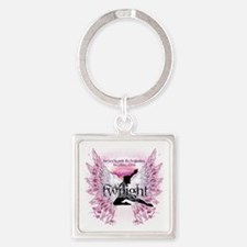 breaking dawn crystal angel by twi Square Keychain