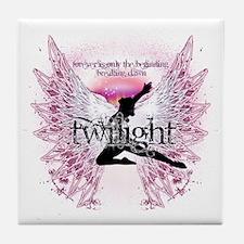 breaking dawn crystal angel by twibab Tile Coaster