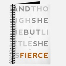 She is Fierce 23x35 Journal