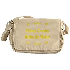 Sidney Crosby Walks On Water BW Messenger Bag