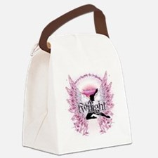twilight pink angel with circle t Canvas Lunch Bag