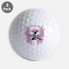 twilight pink angel with circle text co Golf Ball