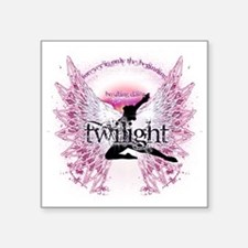 "twilight pink angel with ci Square Sticker 3"" x 3"""