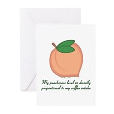 GA Peachiness Level Greeting Cards (Pk of 10)