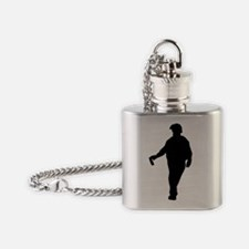 man-silhouette Flask Necklace