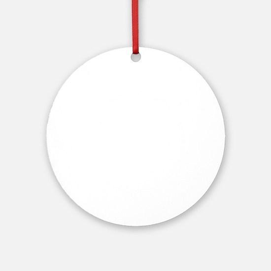 white, fastpitch Round Ornament