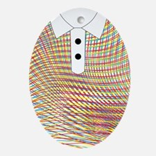 iShirt Wave Strips Oval Ornament