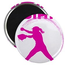 pink, fastpitch Magnet